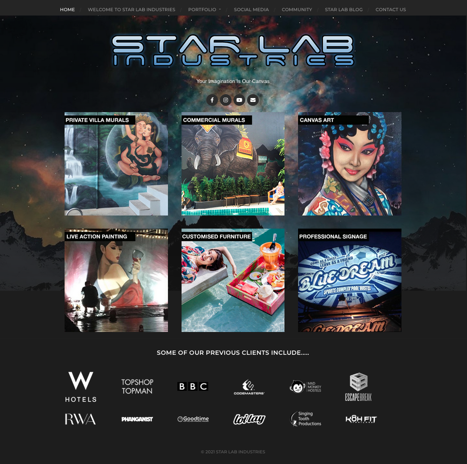star lab blog - Star Lab Industries website
