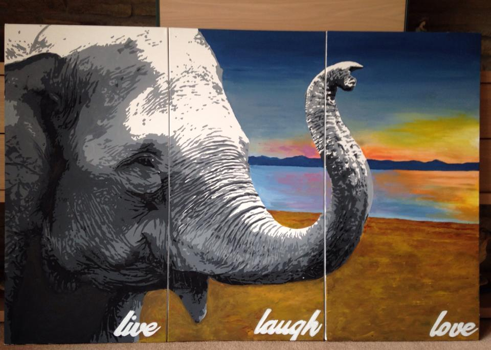asian elephant painting